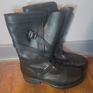 NEW Steve Madden Leather Bandit Boots